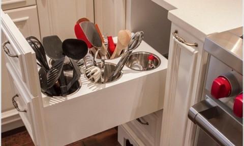 Những gợi ý lưu trữ đồ dùng thuận tiện trong phòng bếp