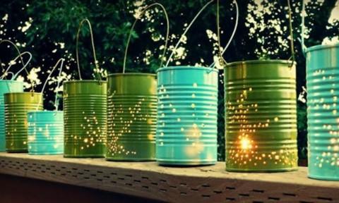 Trang trí nhà đẹp với những mẫu đèn tự chế