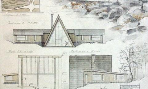Đồ án vẽ tay của sinh viên kiến trúc Nga