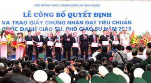 547 người được công nhận chức danh GS – PGS