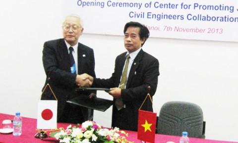 Ký kết hợp tác giữa Trường ĐH Xây dựng Hà Nội và Tổng hội Xây dựng Nhật Bản