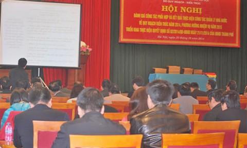Hà Nội: Công bố 35 đồ án quy hoạch năm 2014