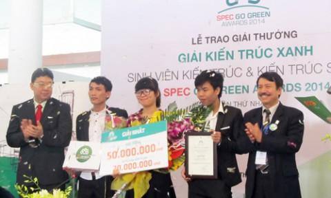 Trao giải thưởng kiến trúc xanh Spec Go Green Awards 2014