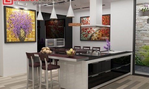 Thiết kế nội thất phòng bếp theo phong thủy