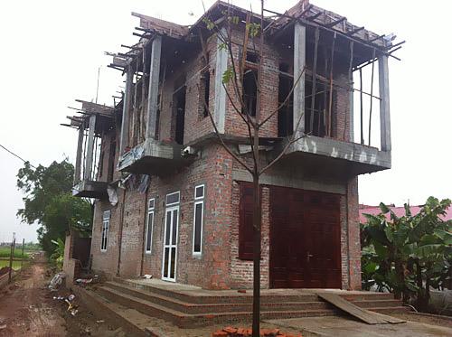 Công trình xây dựng trên đất nông nghiệp tại thôn Cao Cương (xã Đông Quang)