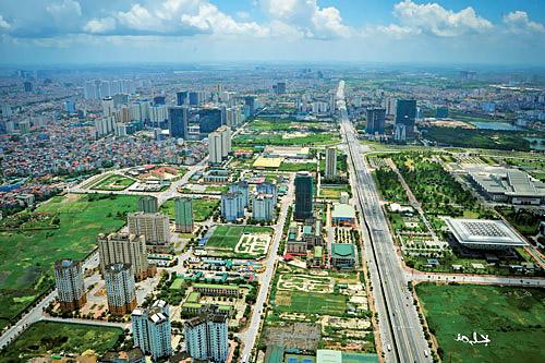Khu vực phát triển dự án đô thị phía Tây Hà Nội.