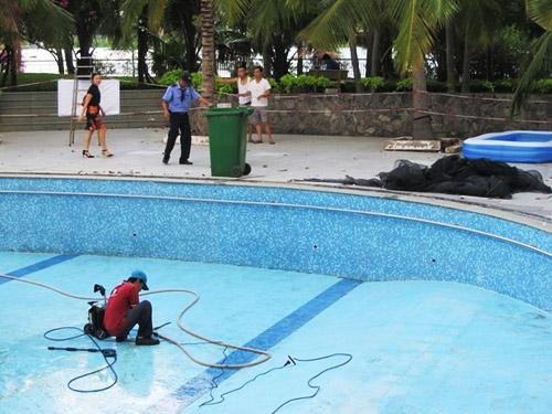 Hồ bơi chung cư 4S Riverside xây dựng trên hành lang bảo vệ sông Sài Gòn