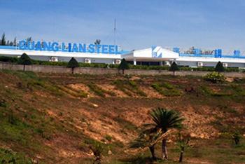 Trụ sở của nhà máy thép Guang Lian tại xã Bình Đông, huyện Bình Sơn. Ảnh: VnExpress