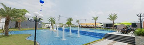 Khu hồ bơi đẳng cấp 5 sao (Hình thực tế tại Mega Village)