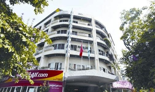 Khách sạn Thương mại Sài Gòn nằm tại 2 lô đất vàng 80 - Lý Thường Kiệt và 22 - Phan Bội Châu (Hà Nội). Ảnh: Hà Thanh
