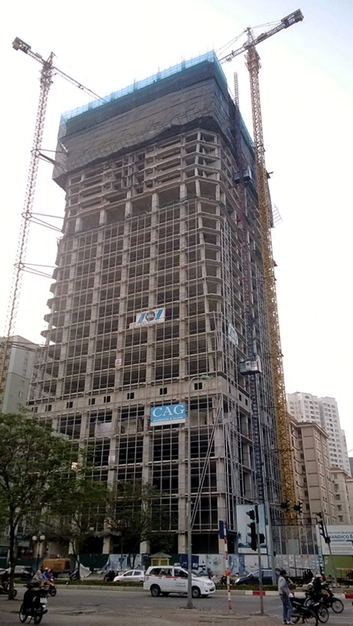 Dự án Diamond Flower Tower của Handico 6 đến nay vẫn nợ hơn 100 tỷ đồng tiền thuế sử dụng đất.