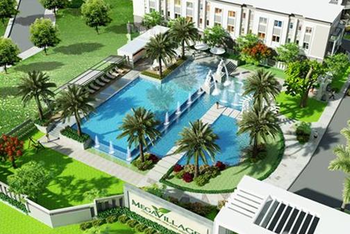 Không gian sống xanh tại dự án Mega Village của Công ty Khang Điền