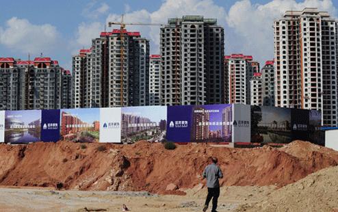 Những căn hộ không có người ở tại thành phố Ordos, khu tự trị Nội Mông (Ảnh: Mark Ralston/AFP)