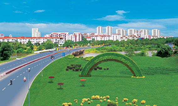 Khu đô thị Phú Mỹ Hưng.
