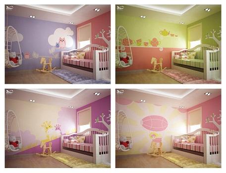 Con bạn chính là người sẽ đưa ra tiếng nói, góp phần quyết định trong phong cách thiết kế và màu sắc chủ đạo của phòng ngủ