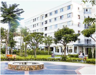 Nhà ở xã hội tại Khu đô thị Đặng Xá (Gia Lâm, Hà Nội).