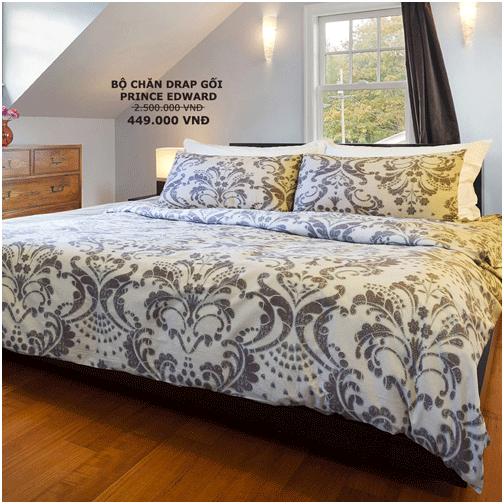 Bằng cách thay bộ chăn ga gối mới, bạn dễ dàng thay đổi không gian phòng ngủ.