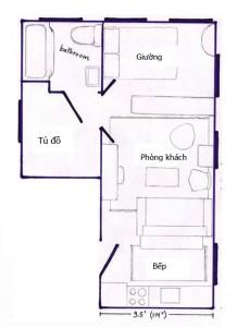 Dù nhà chỉ có 29 m2 nhưng vẫn có các khu vực chức năng rõ ràng.