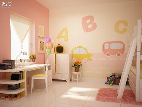 Màu cam đồng là gợi ý tuyệt vời để các bậc cha mẹ tô điểm không gian sinh hoạt cho những cô công chúa nhỏ