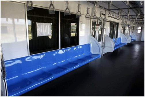 Mô hình toa tàu trong dự án Metro tại Thành phố Hồ Chí Minh (Nguồn: TTXVN)