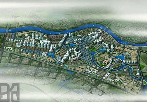 Ảnh phối cảnh Khu đô thị phía Tây Nha Trang cũ với hình thức xây dựng mới hoàn toàn