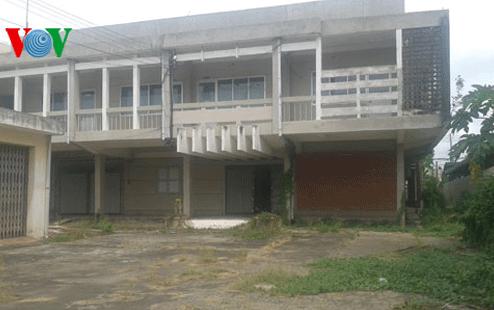 Trụ sở của Sở lao động-TBXH tỉnh Tiền Giang (cũ) bỏ hoang gần 5 năm nay. (Ảnh: Nhật Trường)