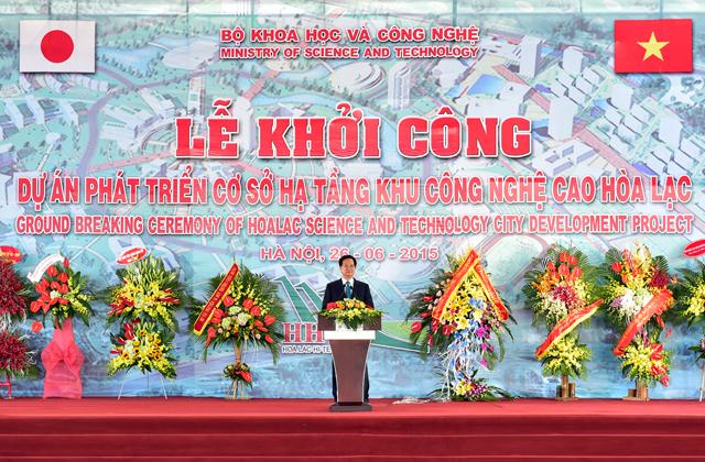 Thủ tướng Nguyễn Tấn Dũng phát biểu tại Lễ khởi công - Ảnh: VGP/Nhật Bắc