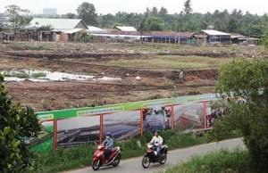 Khu vực đã thu hồi đất để xây nhà máy XLNT Tham Lương. Ảnh: KB