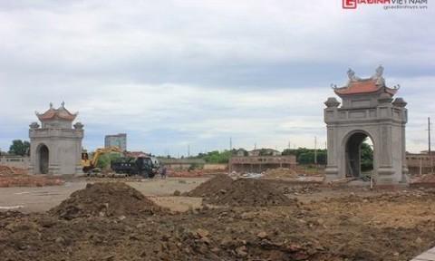 Cận cảnh công trường Văn Miếu hàng chục tỷ ở Hà Tĩnh