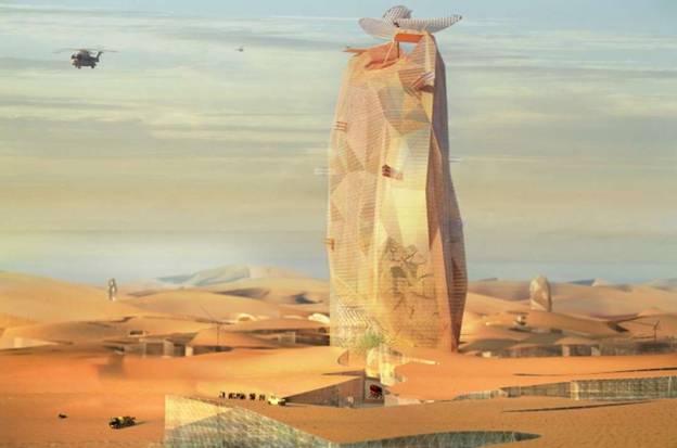 Kế hoạch đầy tham vọng về việc xây dựng một tòa tháp cao tầng kiên cố giữa sa mạc Sahara này vừa mới được tiết lộ.