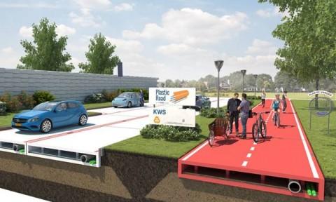 Hà Lan: Con đường làm bằng chai nhựa