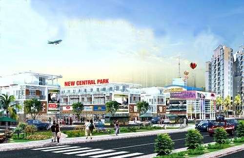 Phối cảnh phố thương mại New Central Park. Hotline: 08.35127788 - 0916321069.