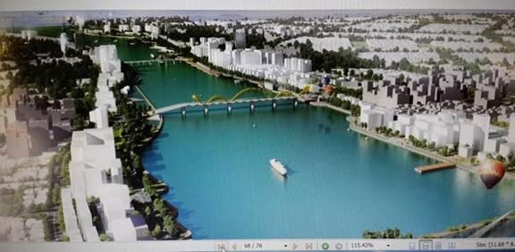 Thiết kế Quy hoạch tổng thể khu vực ven sông Hàn của Công ty JINA Hàn Quốc.