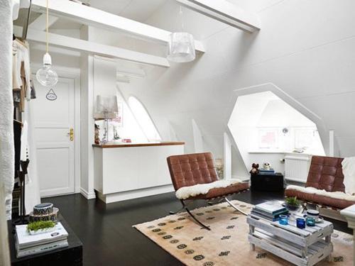 Các góc hẹp của nhà được xử lý phù hợp nên không bị bỏ phí.