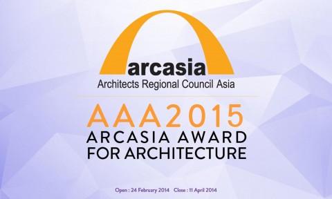 Thông báo về giải thưởng Kiến trúc ARCASIA 2015