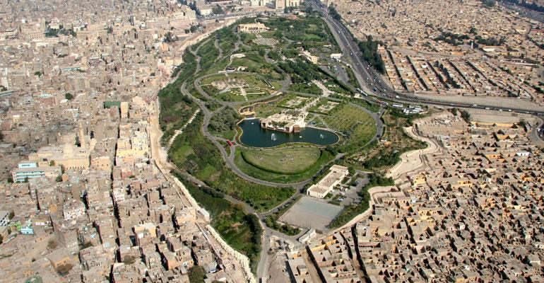 Khu dân cư cổ Darb al-Ahmar ở thành phố Cairo, Ai Cập (nguồn: akdn.org)