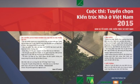 Hội KTS VN: Tuyển chọn Kiến trúc nhà ở Việt Nam 2015
