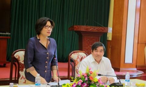 Thứ trưởng Phan Thị Mỹ Linh làm việc với lãnh đạo UBND tỉnh Hải Dương