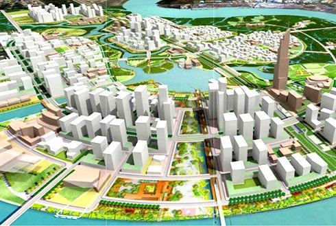 Phối cảnh khu đô thị Thủ Thiêm, trung tâm mới của TP HCM.