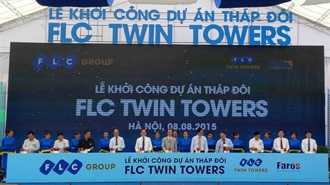 Đại gia BĐS FLC khởi công dự án Tháp đôi cao thứ 3 Hà Nội
