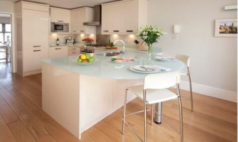 Những đảo bếp xinh xắn cho căn bếp trắng