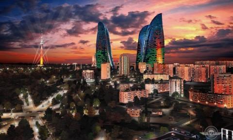 Tháp chung cư Ngọn lửa  Baku Flame Towers