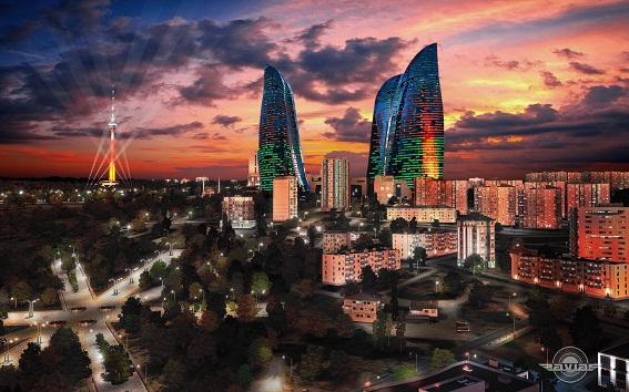 1384674353 11 16 55 Ngắm nhìn tháp chung cư Ngọn lửa Baku Flame Towers