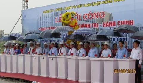 Khởi công xây dựng Dự án Trung tâm chính trị – hành chính quận Hồng Bàng