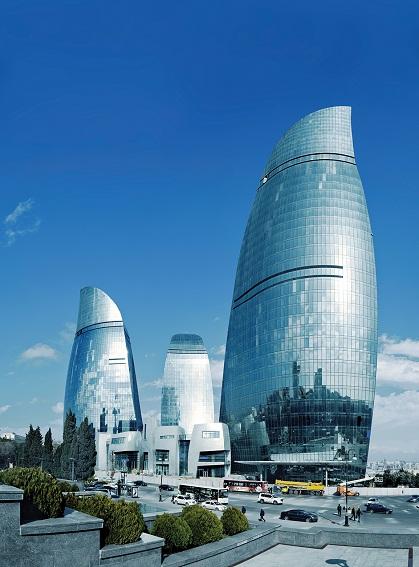53f2d7c0c07a800962000450 baku flame towers hok portada Ngắm nhìn tháp chung cư Ngọn lửa Baku Flame Towers