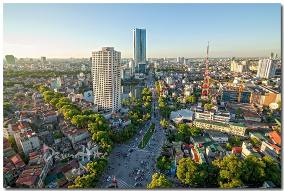 Công trình cao tầng, thấp tầng, tổ hợp thương mại văn phòng đa dạng tại trung tâm Hà Nội