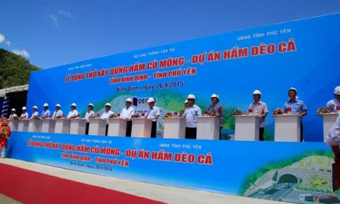 Chính thức động thổ xây dựng dự án hầm đường bộ qua đèo Cù Mông
