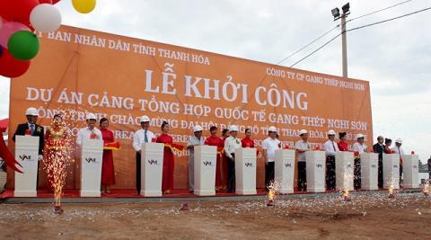 Khởi công xây dựng Cảng Gang thép Nghi Sơn