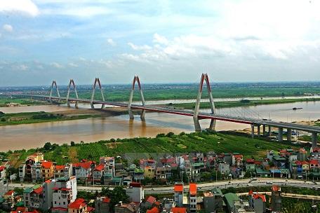 Công trình cầu Nhật Tân, Hà Nội.