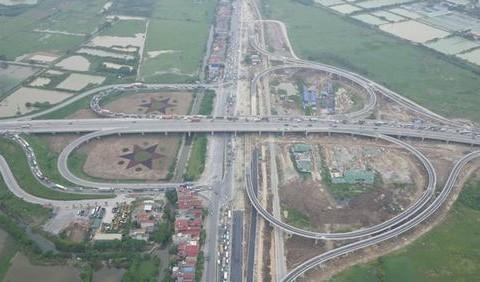 Thông xe cầu vượt Quốc lộ 5 khớp nối với cầu Thanh Trì
